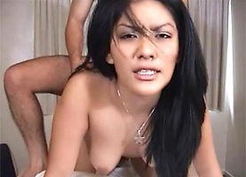 Asian amateur fucked in the kitchen